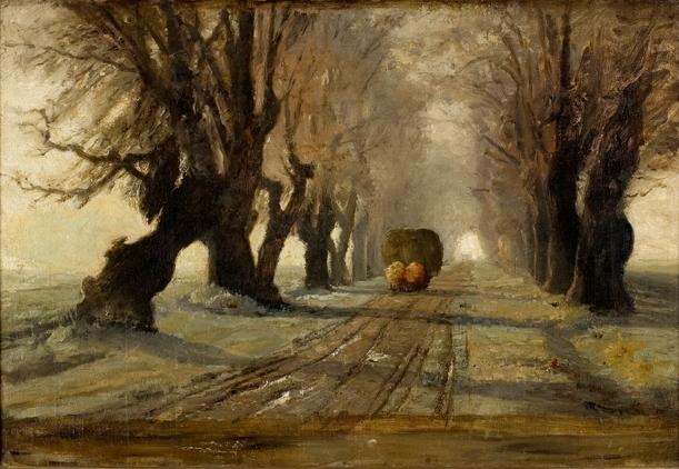 Road to Schleissheim 1 di Theodore Clement Steele (1847-1926, United States)