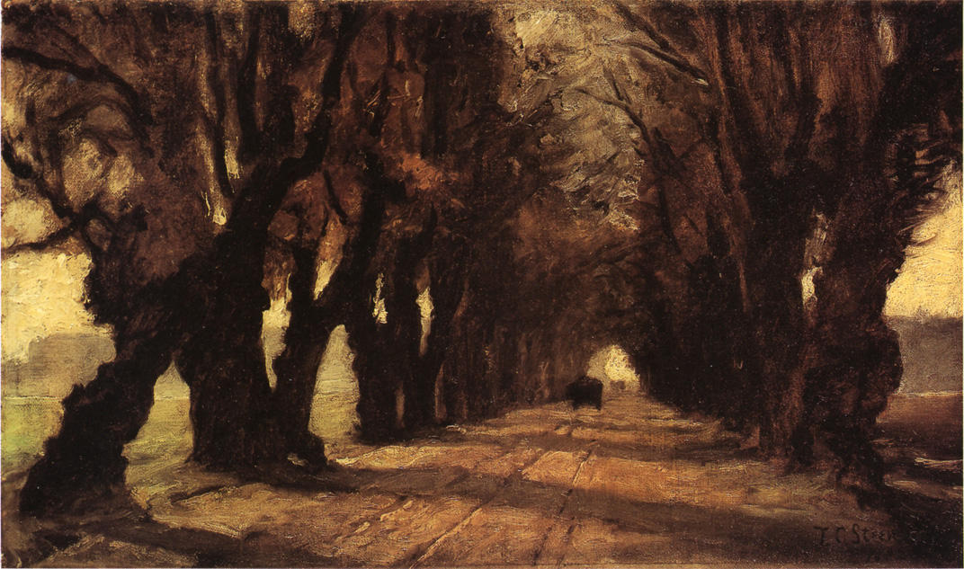 Road to Schleissheim, olio su tela di Theodore Clement Steele (1847-1926, United States)