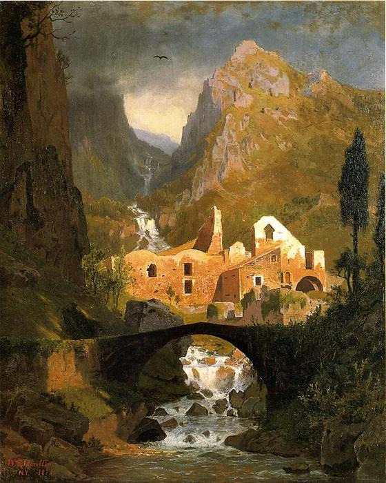 Valle dei Molini - Amalfi di William Stanley Haseltine (1835-1900, United States) | Stampe Di Qualità Del Museo William Stanley Haseltine | ArtsDot.com
