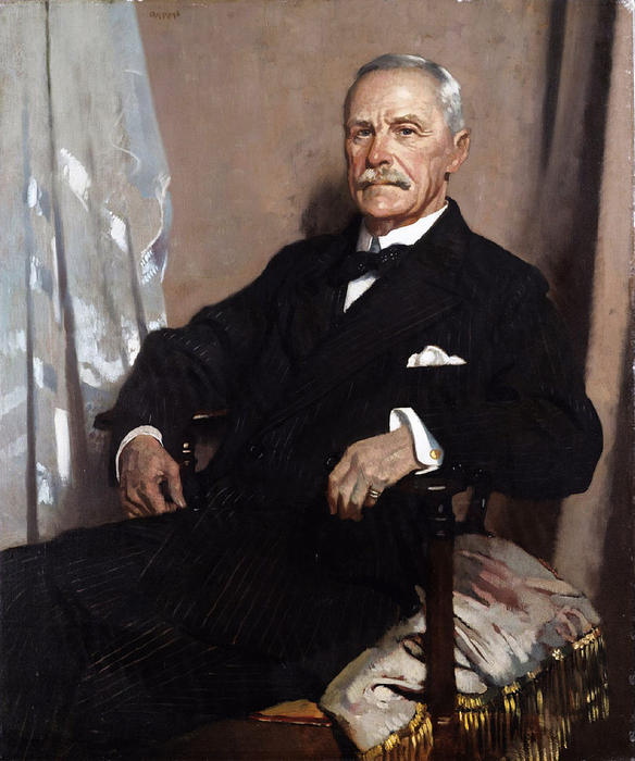 Charles Lawrence, 1 ° Barone Lawrence d Kingsgate, olio su tela di William Newenham Montague Orpen (1878-1931, Ireland)