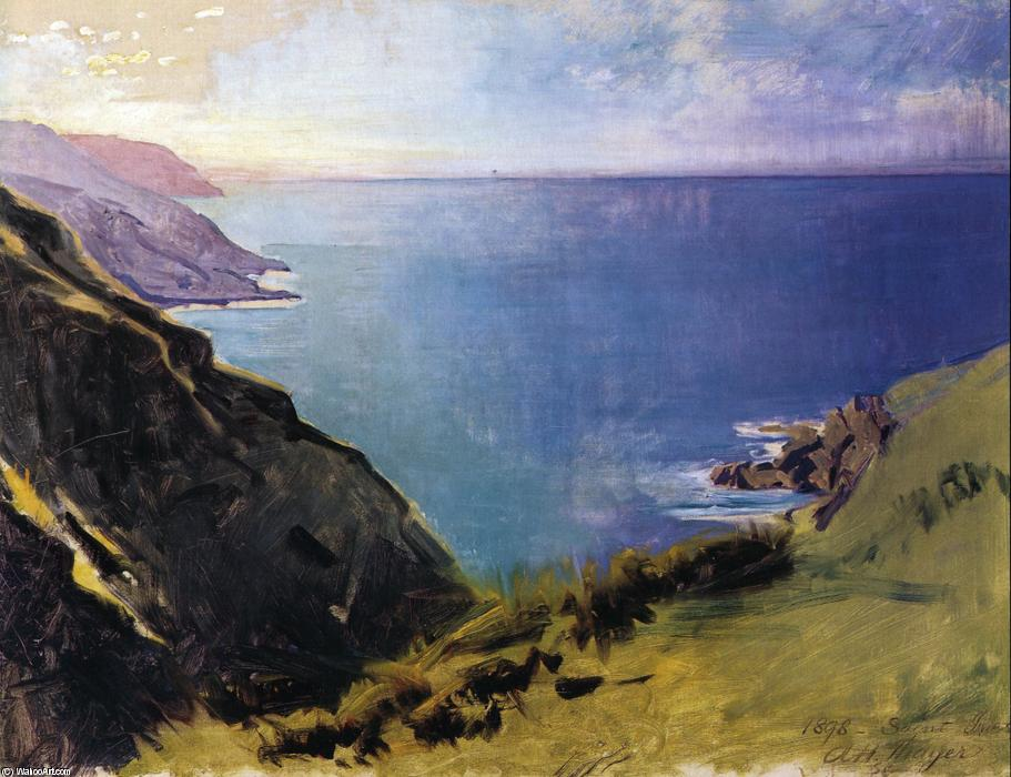 Cornish Headlands, olio su tela di Abbott Handerson Thayer (1849-1921, United States)