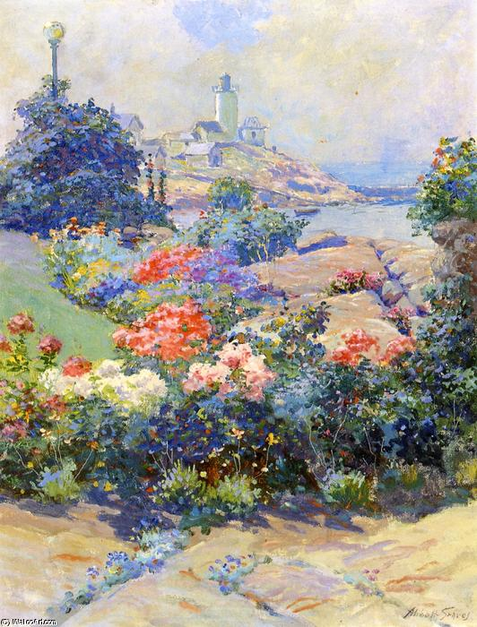 Eastern Point, Gloucester, pittura di Abbott Fuller Graves (1859-1936, United States)