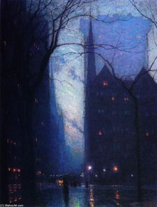 Lowell Birge Harrison - Fifth Avenue at Twilight