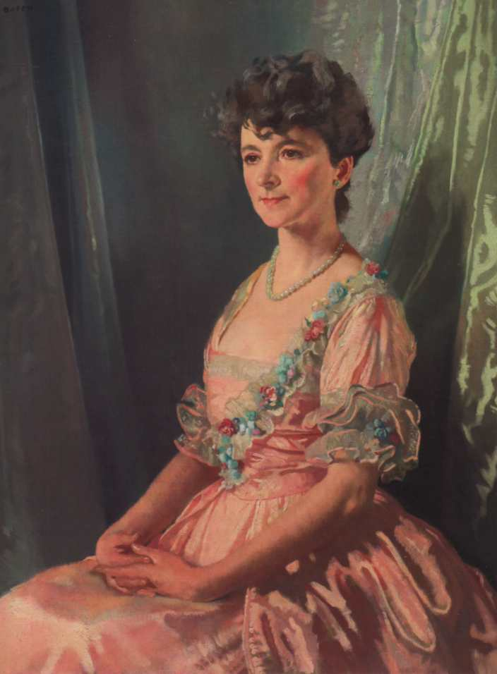 Francine JM Clark, olio su tela di William Newenham Montague Orpen (1878-1931, Ireland)