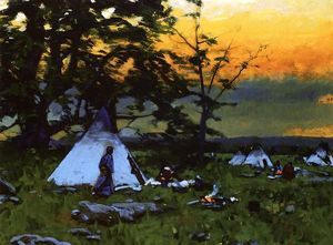 William Gilbert Gaul - Accampamento indiano, Montana