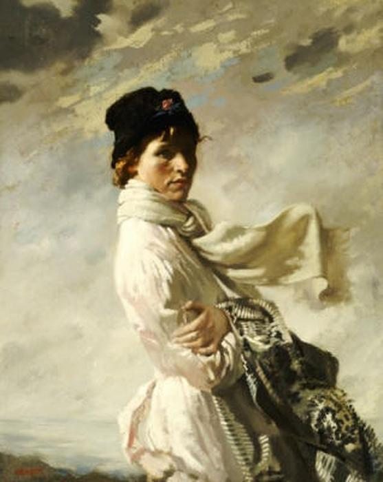 In Dublin Bay, 1909 di William Newenham Montague Orpen (1878-1931, Ireland)