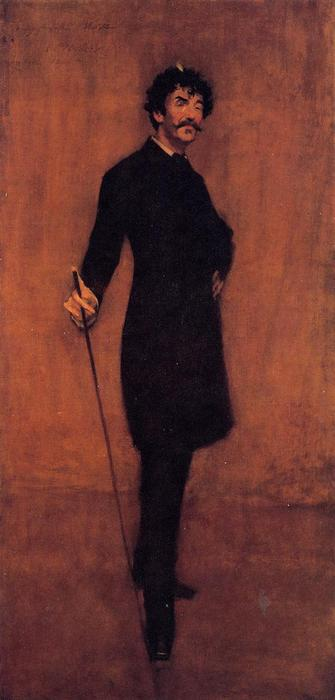 James Abbott McNeil Whistler, olio su tela di William Merritt Chase (1849-1916, United States)