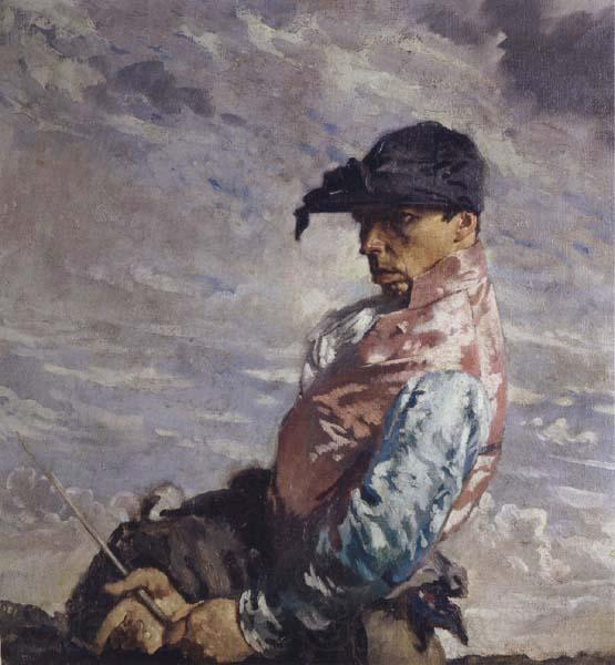 Il Jockey di William Newenham Montague Orpen (1878-1931, Ireland)