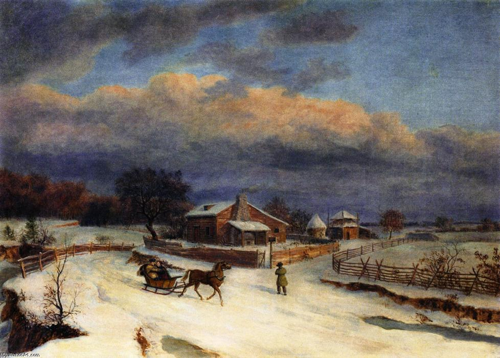 kennett` quadrato in inverno, olio su tela di Thomas Birch (1779-1851, United Kingdom)
