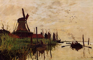 Claude Monet - Windmill a Zaandam