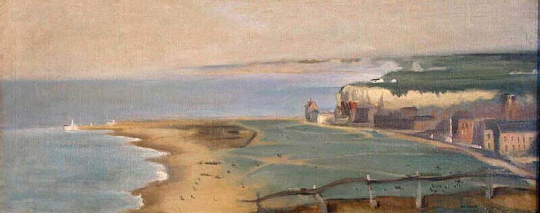 Spiaggia di Dieppe View From The West Cliff di Eva Gonzales (1849-1883, France)