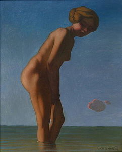 Felix Vallotton - bagnante `looked` al a destra