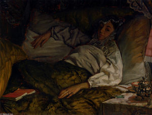 James Jacques Joseph Tissot - a reclinabili signora
