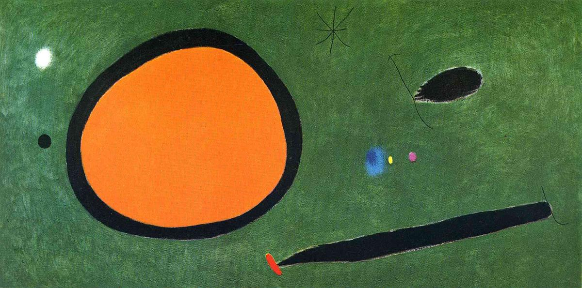 Bird's Volo in Chiaro di luna, 1967 di Joan Miro (1893-1983, Spain)