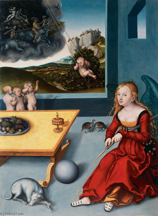 Malinconia, olio di Lucas Cranach The Elder (1472-1553, Germany)