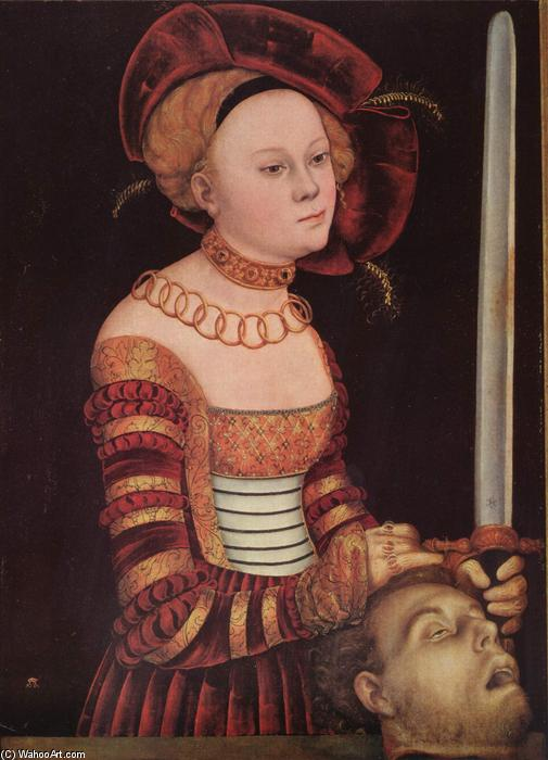 Judith, olio di Lucas Cranach The Elder (1472-1553, Germany)