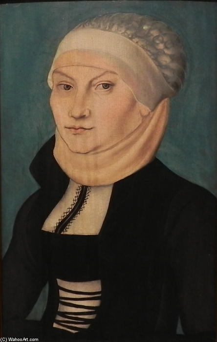 katharina von bora, 1528 di Lucas Cranach The Elder (1472-1553, Germany)