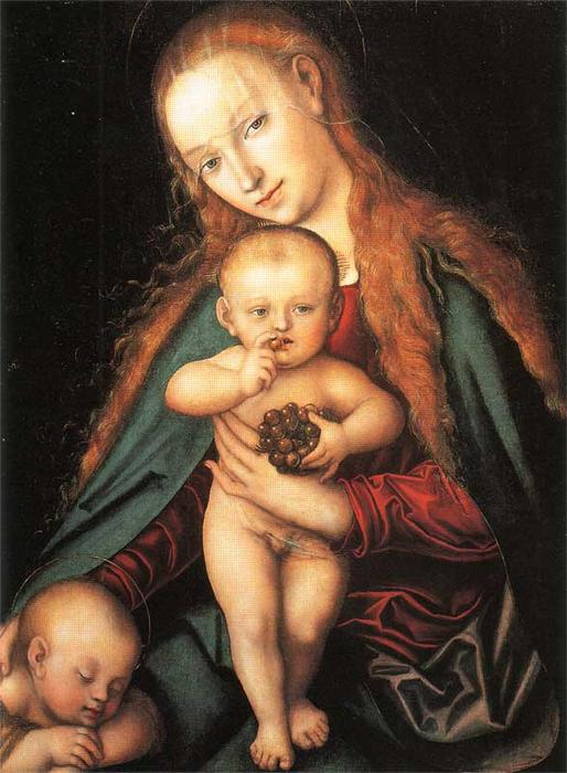Madonna col Bambino, 1540 di Lucas Cranach The Elder (1472-1553, Germany)