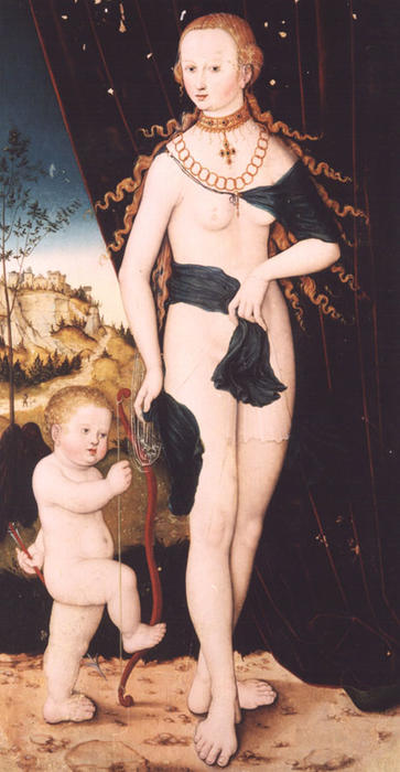 venere e cupido di Lucas Cranach The Elder (1472-1553, Germany)