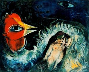 Marc Chagall - Il gallo in amore