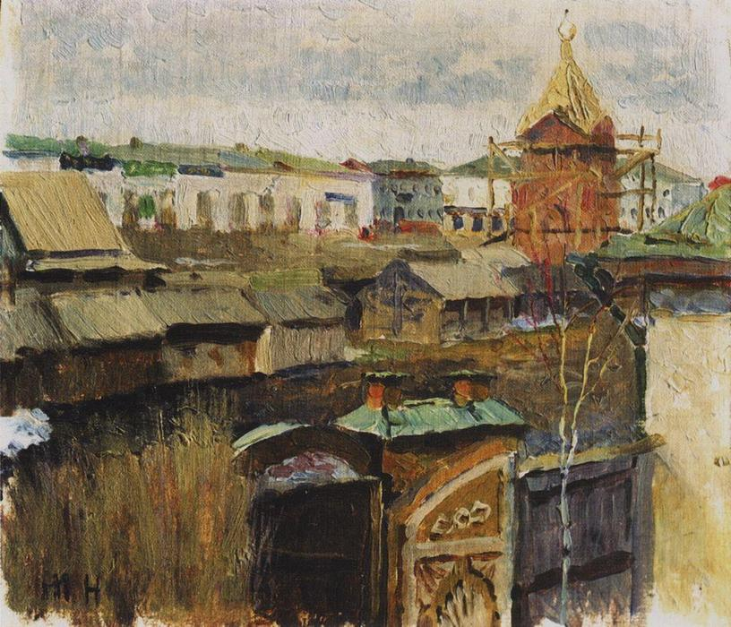 In Ufa di Mikhail Nesterov (1862-1942, Russian Empire)