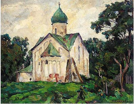 null . Peter e Paul Church ., 1925 di Pyotr Konchalovsky (1876-1956, Russia)