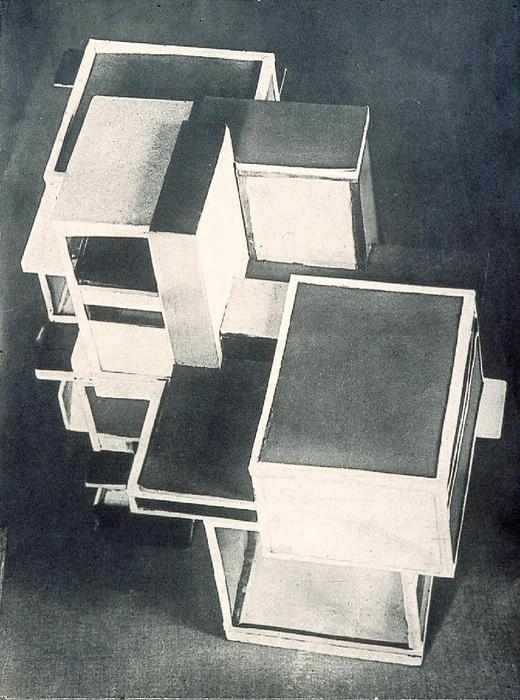 Modello of artist's casa, 1923 di Theo Van Doesburg (1883-1931, Netherlands)
