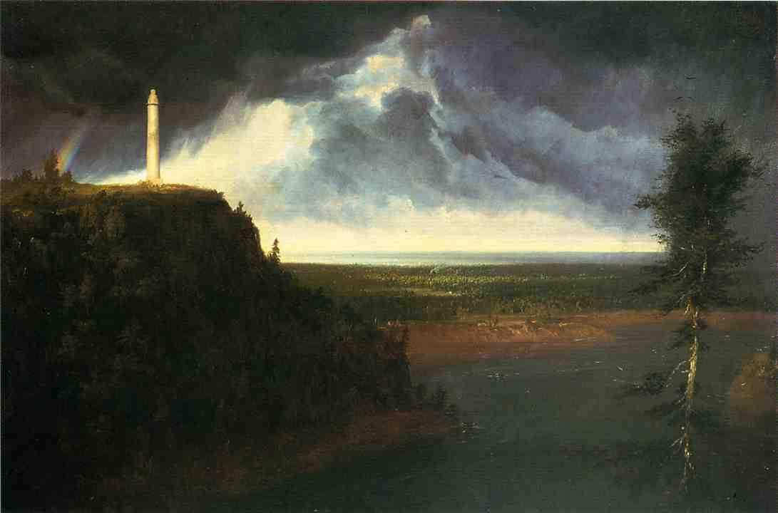 Brock`s-Monument, olio su tela di Thomas Cole (1801-1848, United Kingdom)