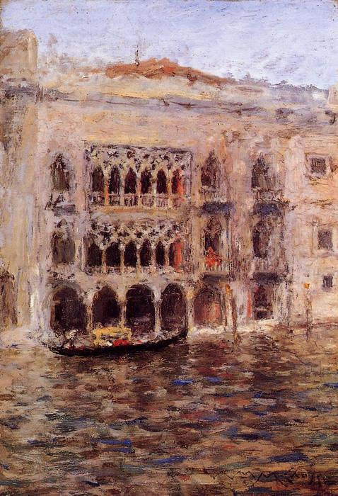 Venezia, olio su tela di William Merritt Chase (1849-1916, United States)