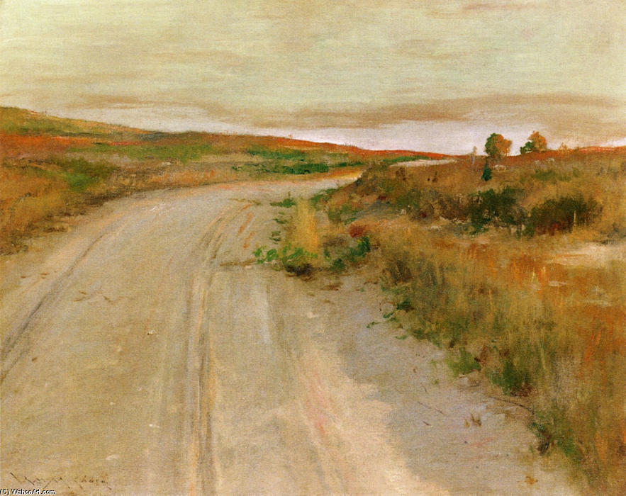 A Shinnecock Hills, olio su tela di William Merritt Chase (1849-1916, United States)