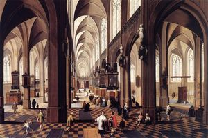 Peeter Neeffs The Younger - Interni of Antwerp Cattedrale