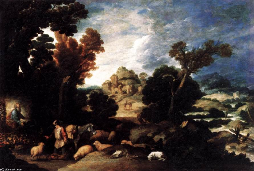 The Burning Bush, 1634 di Francisco Collantes (1599-1656, Spain) | Riproduzione Art | ArtsDot.com