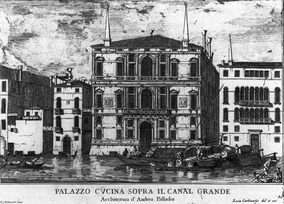 Palazzo Coccina on the canal grande, Incisione di Luca Carlevaris (1663-1730, Italy)