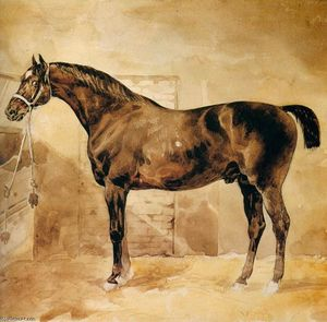 Jean-Louis André Théodore Géricault - Inglese cavallo  come  stabile