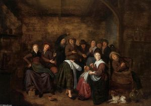 Jan Miense Molenaer - 'Peasants in un Locanda Giocar..
