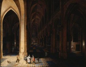 Peeter The Elder Neeffs - Interni of Antwerp Cattedrale ..
