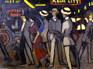 Auguste Chabaud - magia città
