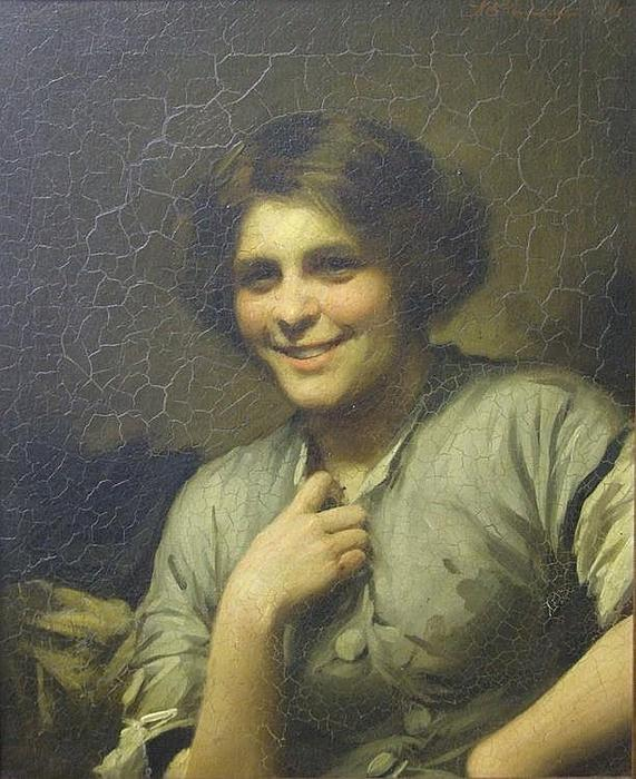 Molly, la cameriera della locanda di Thomas Benjamin Kennington (1856-1916, United Kingdom)