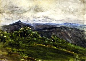 Henry Ossawa Tanner - montagna paesaggio , Highlands..