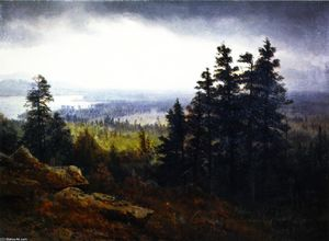 Albert Bierstadt - Vicino a North Conway, New Hampshire