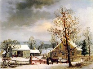 George Henry Durrie - nuovi inghilterra Inverno..