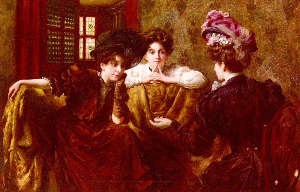 No Gossip di Thomas Benjamin Kennington (1856-1916, United Kingdom)