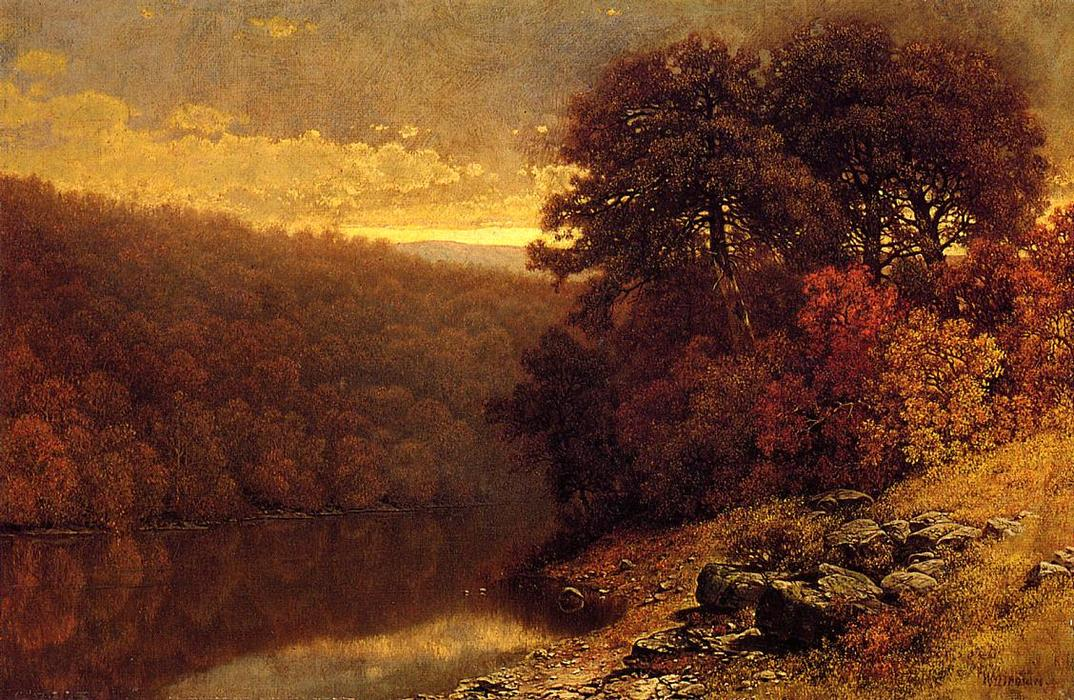 Ottobre in Gran Otter Creek, Vermont di William Mason Brown (1828-1898, United States) | Stampe D'arte Su Tela | ArtsDot.com