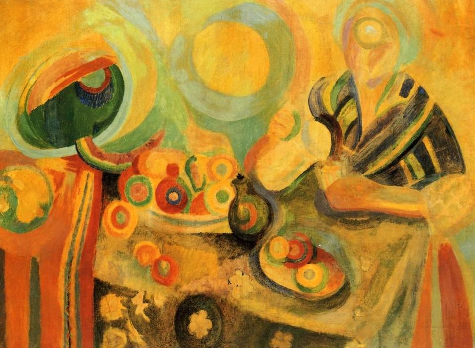 Poring, pittura di Robert Delaunay (1885-1941, France)
