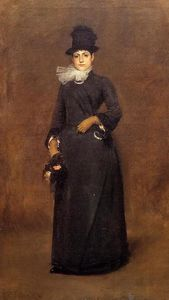William Merritt Chase - Pronta per a passeggiata : beatrice clough bachmann