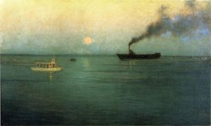 Lowell Birge Harrison - Rosy Luna off Charles Harbor