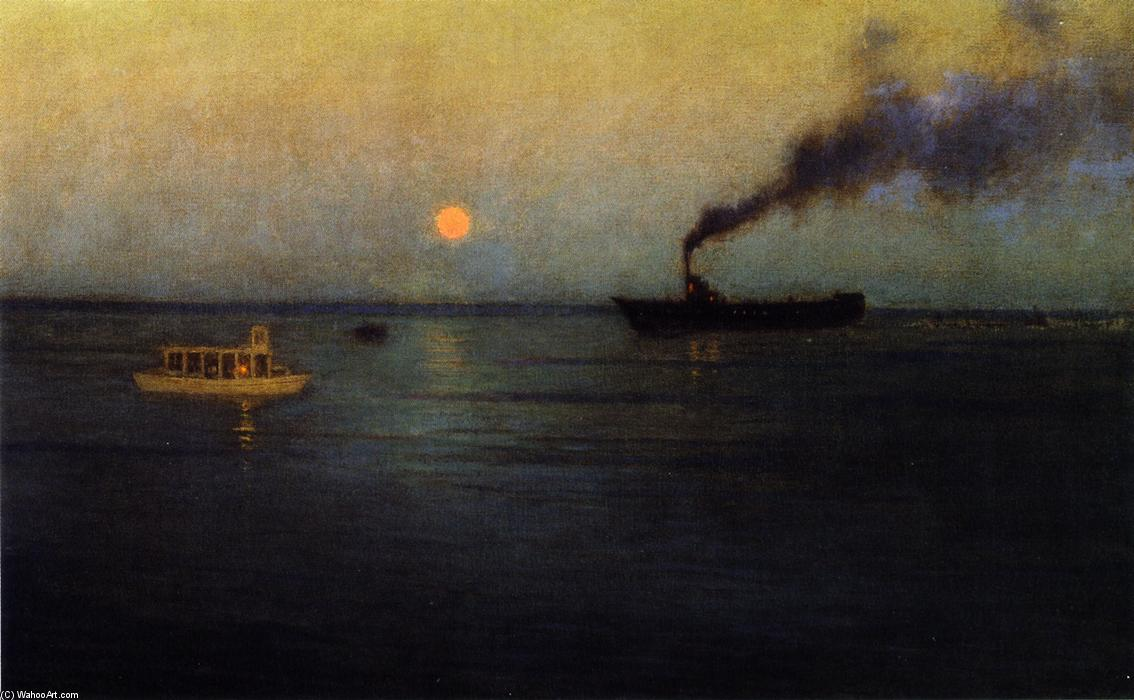 Roseo Luna via Charleston Porto, pittura di Lowell Birge Harrison (1854-1929, United States)