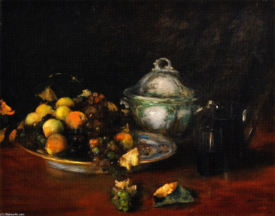 natura morta Frutta , olio su tela di William Merritt Chase (1849-1916, United States)