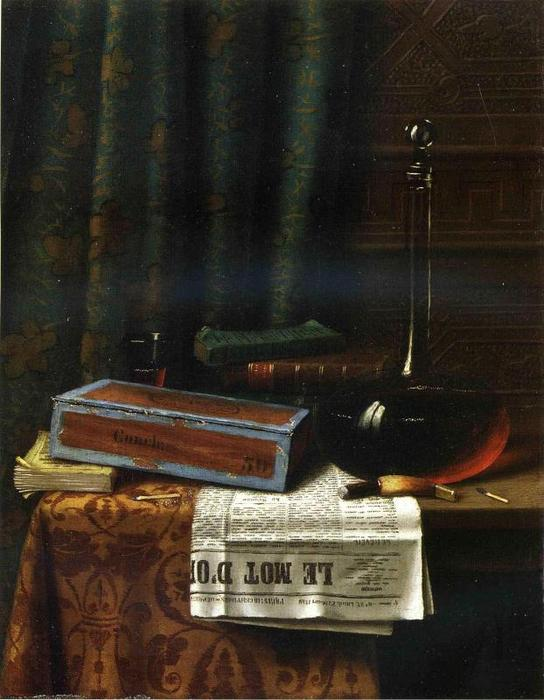 Still Life: Le Mot d Or, 1880 di William Michael Harnett (1848-1892, Ireland) | ArtsDot.com