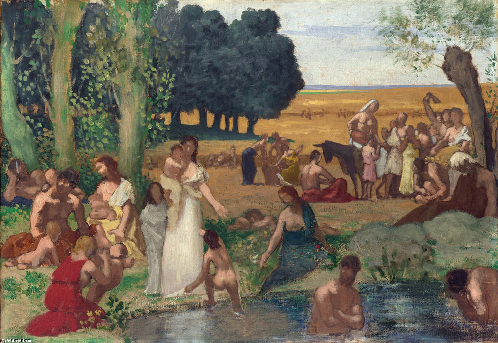 Estate di Pierre Puvis De Chavannes (1824-1898, France)
